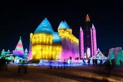 En enero de 2015 - Harbin, China - hielo internacional y festival de la nieve Foto de archivo