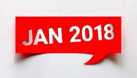 En enero de 2018 palabra creativa Foto de archivo