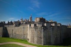 En engelsk slott Europa royaltyfri bild