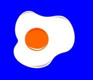 En enkel illustration av ett stekt ägg royaltyfri illustrationer