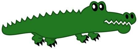 En enkel krokodil Arkivbilder