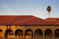 En enkel sikt i Stanford-universitetet Royaltyfri Bild