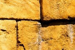 En enkel tegelstenvägg Fotografering för Bildbyråer