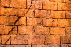 En enkel tegelstenvägg Arkivbild
