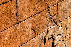 En enkel tegelstenvägg Royaltyfri Fotografi