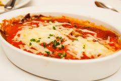 Entree av bakad Lasagna arkivfoton