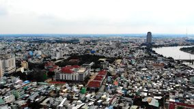 En esta foto usted puede ver un desarrollo urbano bastante denso imagen de archivo libre de regalías