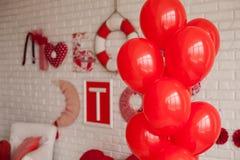 En estilo de la tarjeta del día de San Valentín Foto de archivo libre de regalías