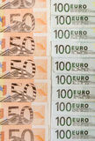50 en 100 euro Stock Fotografie