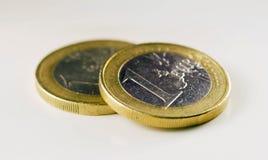 En Euro myntar Fotografering för Bildbyråer