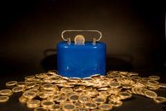 En Euro myntar arkivfoto