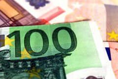 50 en 100 euro nota's Stock Foto's