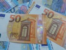 50 en 20 euro nota's, Europese Unie Royalty-vrije Stock Foto's