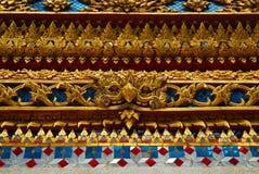 En färg av den thai arkitekturmodellen och thai konst Fotografering för Bildbyråer