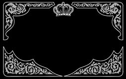 En färgar tappningbakgrund med krönar Royaltyfri Foto