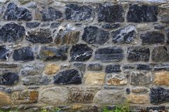 En färgrik Bricky väggtextur royaltyfri bild
