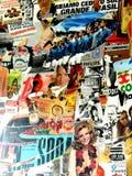 En färgrik collage av tappningfotostil royaltyfri fotografi