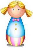 En färgrik docka vektor illustrationer