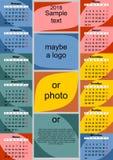 En färgrik kalender för 2018 vektor illustrationer