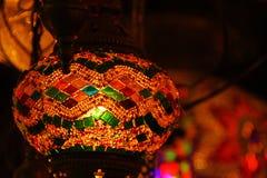 En färgrik lampa Royaltyfri Bild