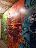 En färgrik postbox Royaltyfria Foton