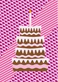 En födelsedagtårta Arkivbild