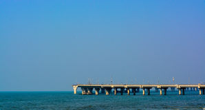 ` `en För Bandra-Worli havssammanlänkning som lokaliseras i Mumbai stadsMaharashtra Arkivfoton