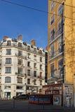 `en För `-Fresque des Lyonnais på Quais de Saone Fotografering för Bildbyråer