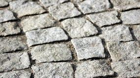 En förberedande sten som är ett fragment av en fot- gångbana royaltyfria foton