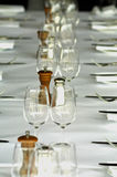 En fördjupad äta middag tabell med Royaltyfria Foton