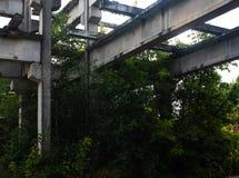 En förstörd fabrik Royaltyfri Bild