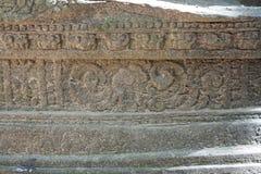 En förstörd tempel på Prasat Yeah Puon i Sambor Prei Kuk i Cambodja arkivbilder