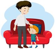 En fader och sonen royaltyfri illustrationer