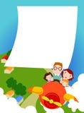 En familj på en tur stock illustrationer