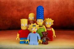 En familj Simpson royaltyfri fotografi