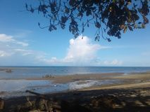 En fantastisk strand Royaltyfri Fotografi