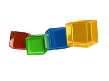 En fantastisk toy från genomskinliga kuber Fotografering för Bildbyråer