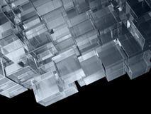 En fantastisk toy från genomskinliga kuber Arkivbilder