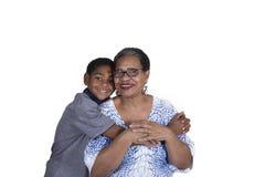 En farmor och hennes sonson Fotografering för Bildbyråer