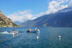 En fartygtur på sjön Garda, Italien Royaltyfria Foton