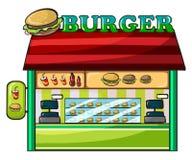 En fastfoodrestaurang stock illustrationer