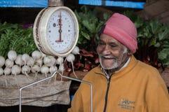 En fattig affärsman av landsbygder i Sri Lanka Arkivbild