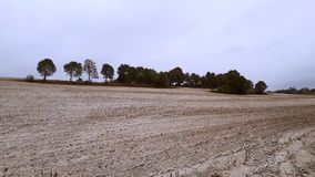 En faveur de l'agriculture organique et écologique l'utilisation de la chaux crue comme engrais dans la culture image stock