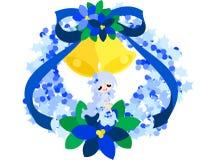 En fe av den blåa julkransen Royaltyfri Foto
