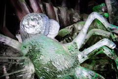 En febrero de 2013 - Harbin, China - estatuas hermosas del hielo en el festival de linterna del hielo Fotografía de archivo