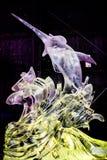 En febrero de 2013 - Harbin, China - estatuas hermosas del hielo en el festival de linterna del hielo Imágenes de archivo libres de regalías