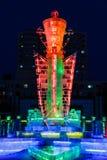 En febrero de 2013 - Harbin, China - festival de linterna del hielo Imágenes de archivo libres de regalías