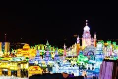 En febrero de 2013 - Harbin, China - hielo internacional y festival de la nieve Imágenes de archivo libres de regalías