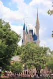 En felik slott disney disneyland royaltyfria bilder