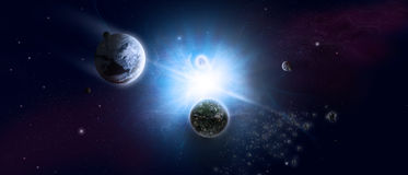 Universum och starfield royaltyfria bilder